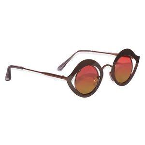 Accessories - Retro Metal Eye Frame Sunglasses